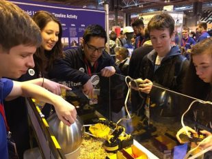Gordon and Annelisa sharing their love of STEM subjects at Big Bang Fair