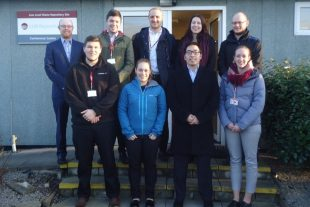 Annelisa and Gordon on a nucleargraduates visit to the Low Level Waste Repository in Cumbria