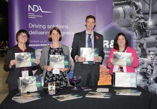 NDA R&D team members with our brand new brochure! L-R: Yvonne Morris, Beth Ripper, Rick Short and Melanie Brownridge.