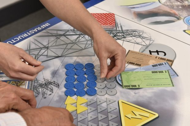 Sellafield Ltd team learning about asset management by playing the Synergy Board Game