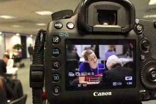 Steph Flynn participating in speed mentoring