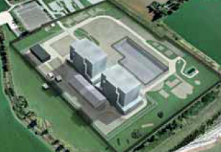 Artist's impression of Bradwell nuclear site in Essex when it reaches Care and Maintenance phase