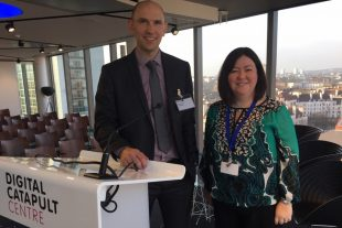 Chris Hope and Melanie Brownridge at Digital Catapult Centre