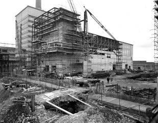 Historic image of Magnox Reprocessing Plant under construction