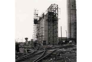 Construction of the Pile Fuel Cladding Silo (PFCS) at Sellafield in west Cumbria