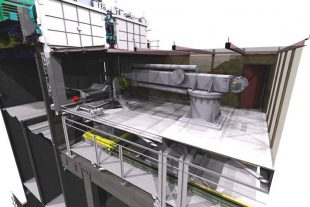 Illustration of retrieval equipment for Pile Fuel Cladding Silo (PFCS) at Sellafield