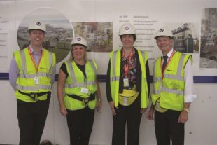 Team members Adrian Jones, Gill Thomas, Laura Baker and David Edwards