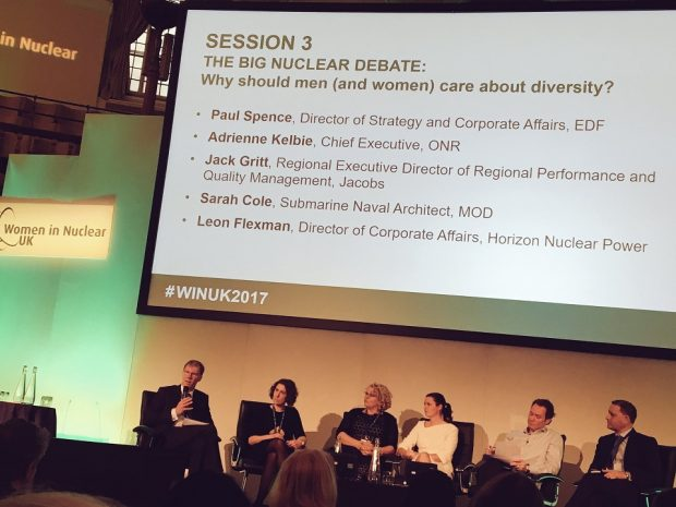 Pannelists at Women in Nuclear UK Conference 2017