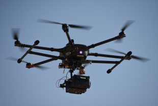 Medium Size DroneOps flying a radiological sensor