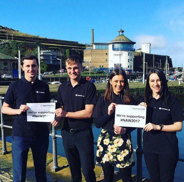 Jack, Jack, Natalie and Rebecca: 4 Sellafield Ltd project management apprentices