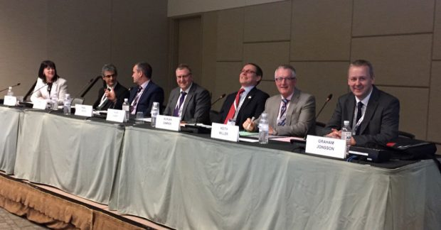 Panelists from UK organisations at WM2017