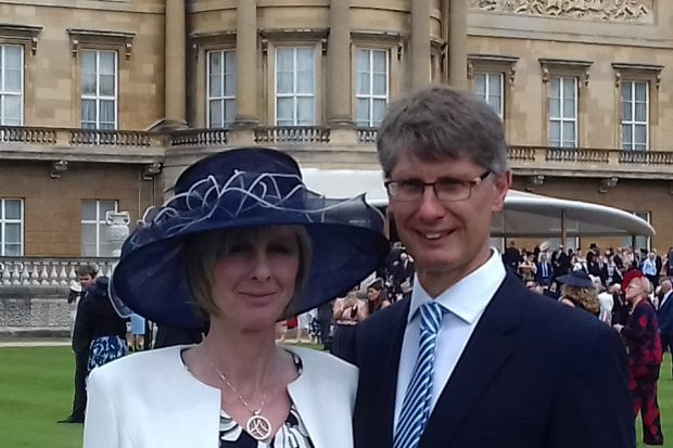 Martin Robb, NDA National Programme Delivery Manager, and his wife outside Buckingham Palace