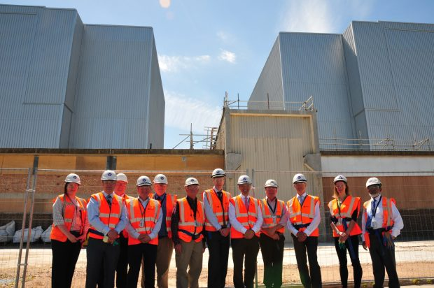 David Peattie visits Bradwell site in Essex