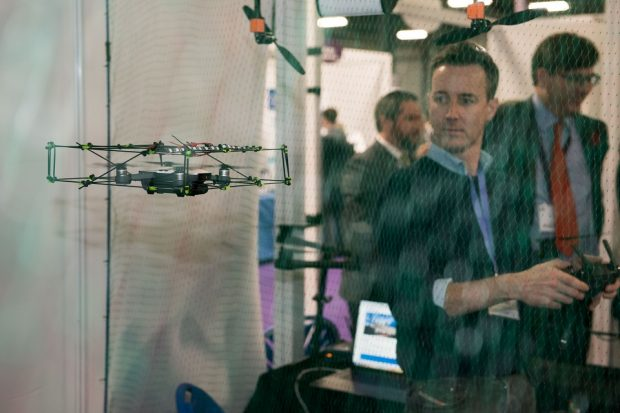 DroneOps are an SME who demonstrated their products in the Innovation Zone