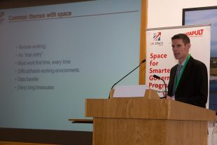 Rick Short, NDA Research Manager, presents at Space for Smarter Government Programme (SSGP) 2017