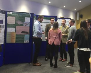 The PhD students created posters illustrating their progress