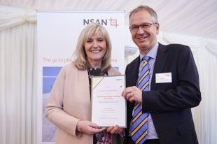 Jo Tipa and David Vineall at the 10th anniversary reception for NSAN