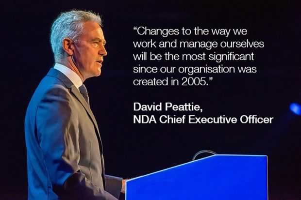 "David Peattie: ""Changes to the way we work and manage ourselves will be the most significant since our organisation was created in 2005."""