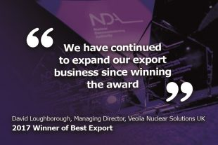 Best Export 2017 award winner quote