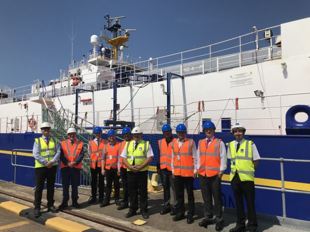 Checking out INS facilities at Barrow