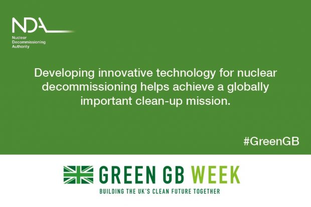 Green GB Week: Developing innovative technology for nuclear decommissioning helps achieve a globally important clean-up mission.