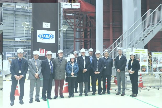 Panel members visited the Fukushima Dai-ichi site to see progress