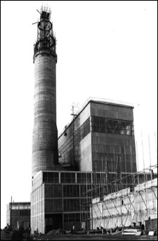A black and white image of Pile 1 Windscale Pile