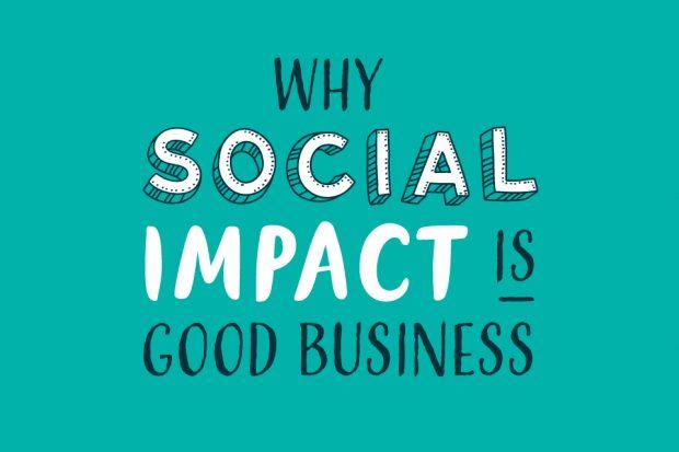 Social impact inforgraphic