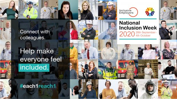 Poster advertising National Inclusion Week 2020